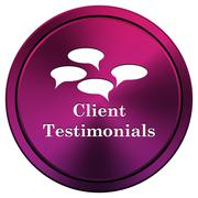 Client testimonials icon Stock Illustration