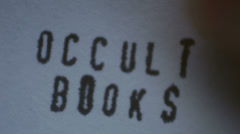 Occult books title Stock Footage