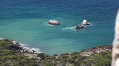 View on Rhodes Island and Aegean See. Greece. Stock Footage
