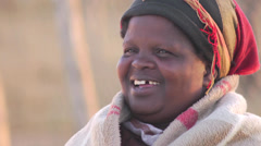 Xhosa african woman close up face - stock footage