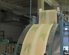 Plant for the production of paper products (paperhangings,  paperhanging) Stock Footage