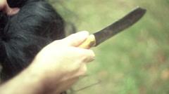 Scalp scalping Stock Footage