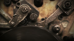 Rotating gears - stock footage