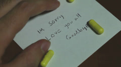 suicide note 2 - stock footage