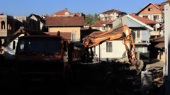 Excavator Demolish - stock footage