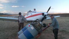 Glider Tug ReFuel08b DNxHD Stock Footage