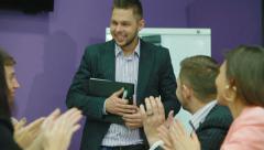 Coach explains the basic principles of multilevel marketing Stock Footage