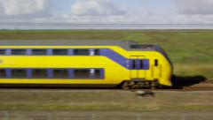 Dutch Railway Intercity passing at high speed Stock Footage