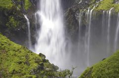 Stock Photo of powerful waterfall
