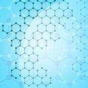 molecular background - stock illustration