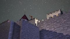 castle night cool - stock footage
