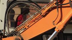 Excavator Operator Stock Footage