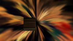 Metal cylinder falling into black hole - stock footage