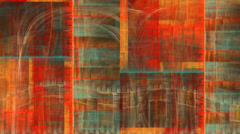 Abstract orange and green texture motion background seamless looping fractal Stock Footage