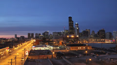 Chicago Skyline Timelapse Stock Footage