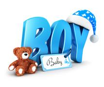 3d word boy concept Stock Illustration