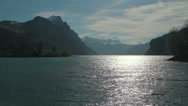 Stock Video Footage of Switzerland Mountain with lake