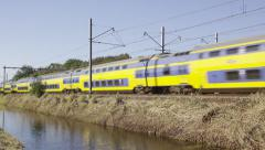 Intercity is chased by a Sprinter train services Stock Footage