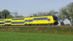 Dutch Railways modernized Intercity train unit - stock footage