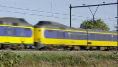 Multiple Intercity units from Dutch Railways Stock Footage