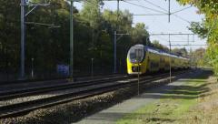 Dutch Railways Intercity coming Stock Footage