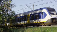 Sprinter train unit appearing Stock Footage