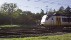 Dutch railroad crossing Stock Footage