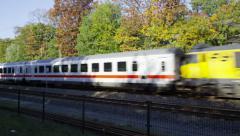Dutch Railways international train Stock Footage