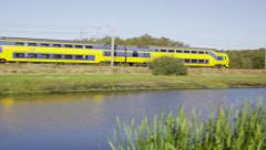 Dutch Railways Intercity passing Stock Footage