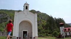 Monastery, Bosnia, Church, people Stock Footage