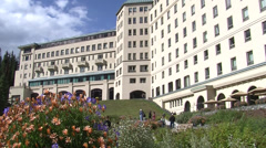 Stock Video Footage of Fairmont Chateau Lake Louise Hotel