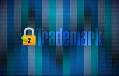Trademark binary background illustration Stock Illustration