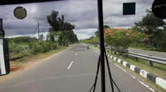 Road Trip in Indonesia Stock Footage