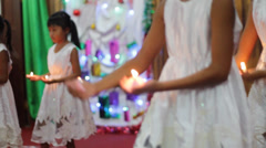 Kids Dancing with Candles, Indonesia Stock Footage