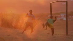 Soccer,African style Stock Footage