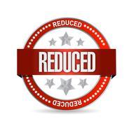 reduced seal illustration design - stock illustration