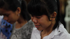 Indonesian Woman Crying Stock Footage