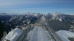 Sulphur Mountain Walkway Stock Footage