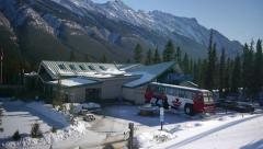 Banff Sulphur Mountain Gondola Base in Winter Stock Footage