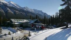 Banff Sulphur Mountain Gondola Base Station in Winter Stock Footage