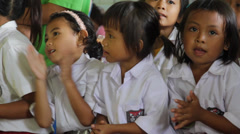 Indonesian Kids Singing and Dancing - stock footage