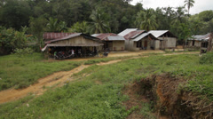 Jungle Village in Indonesia Stock Footage
