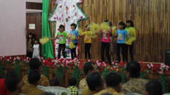 Christmas Time in the Indonesian Jungle Stock Footage