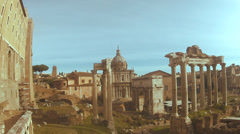 Rome Forum Stock Footage