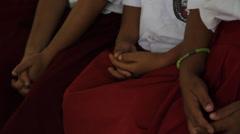 Jungle Kids Praying, Indonesia Stock Footage