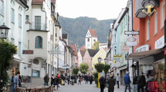 Fuessen in Germany Stock Footage