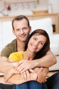 portrait of a happy loving adult couple - stock photo