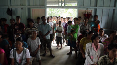 Indonesian People in Church, Indonesia Stock Footage