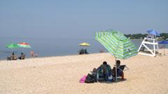 Sunny summer beach (1 of 10) Stock Footage