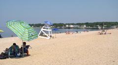 Sunny summer beach (10 of 10) Stock Footage